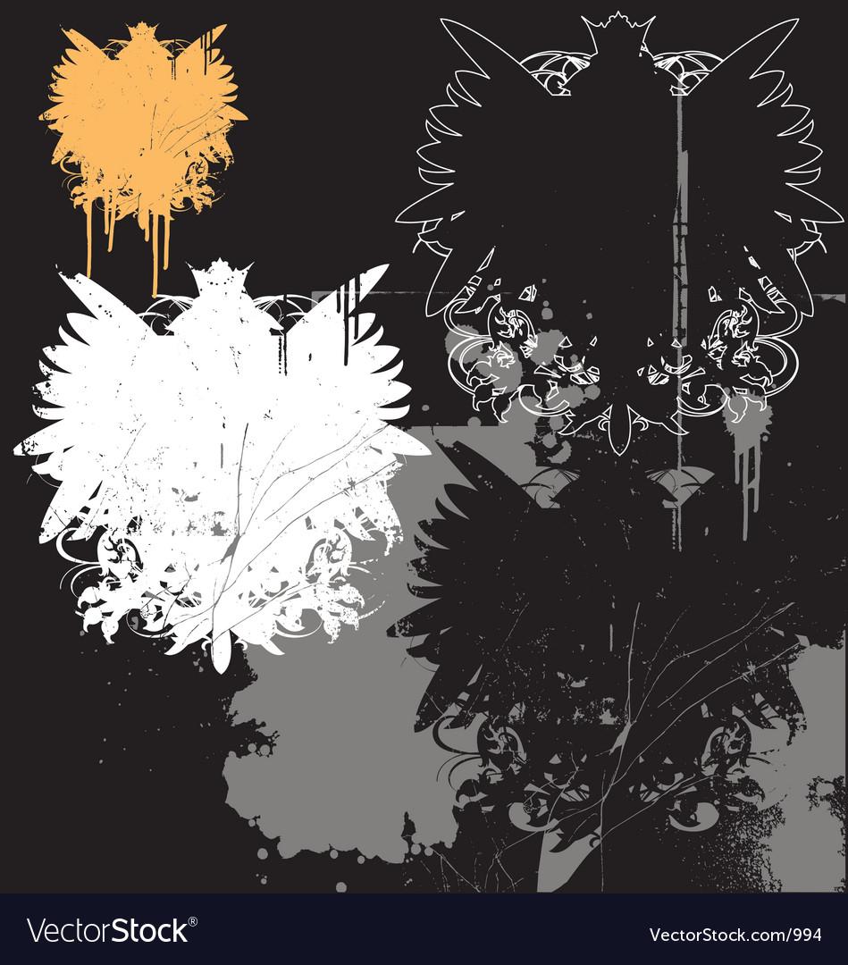 Free grunge heraldry pack vector