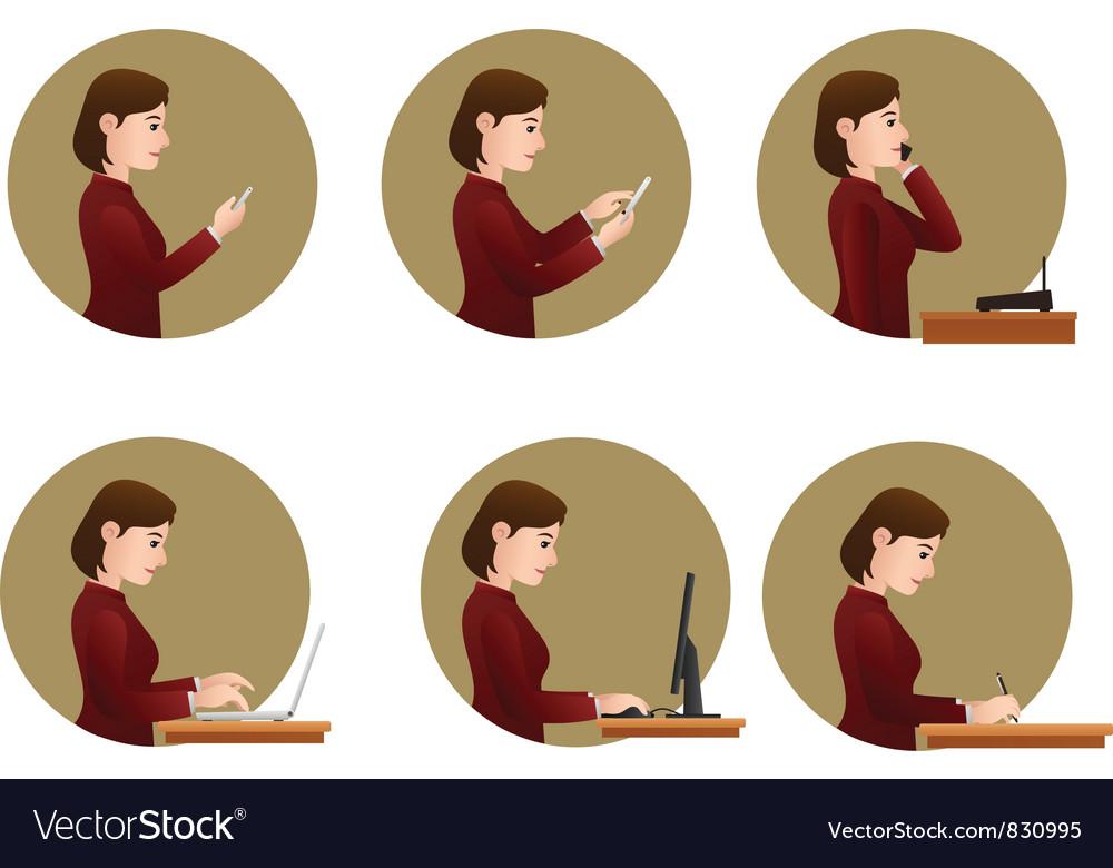 Office activities vector