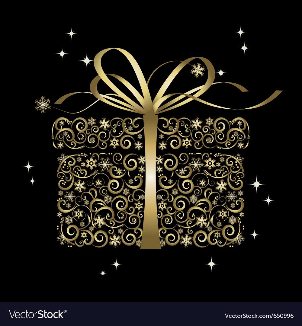 Stylized gift vector