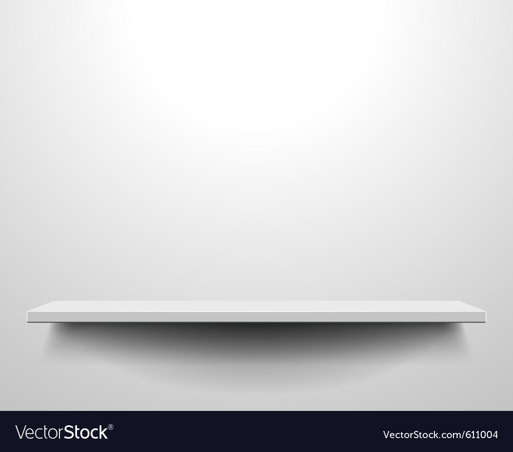 White shelve on wall vector
