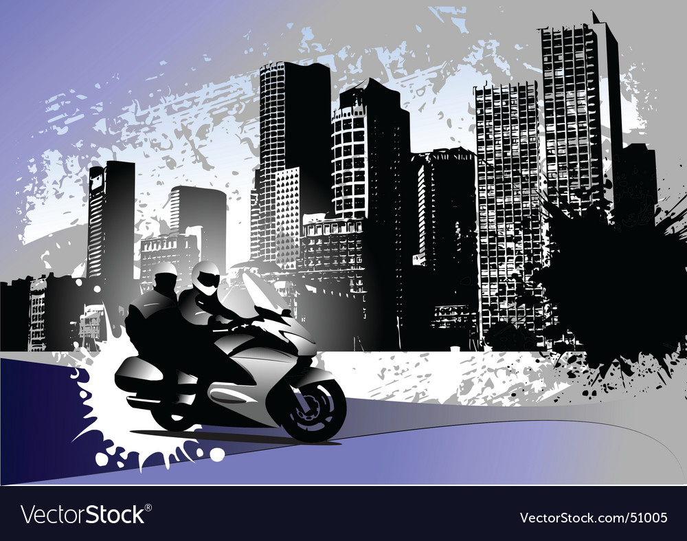 Grunge urban background vector