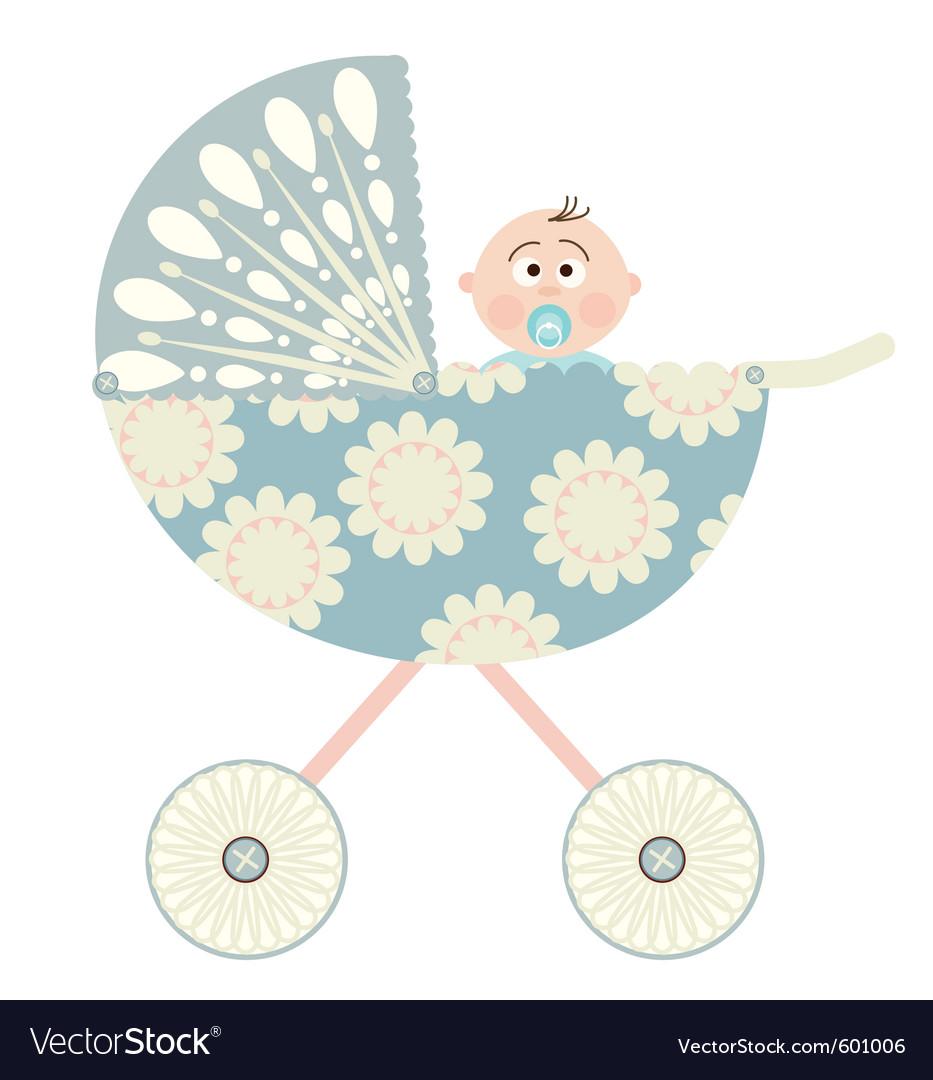 Baby pram vector Baby Stroller Cartoon