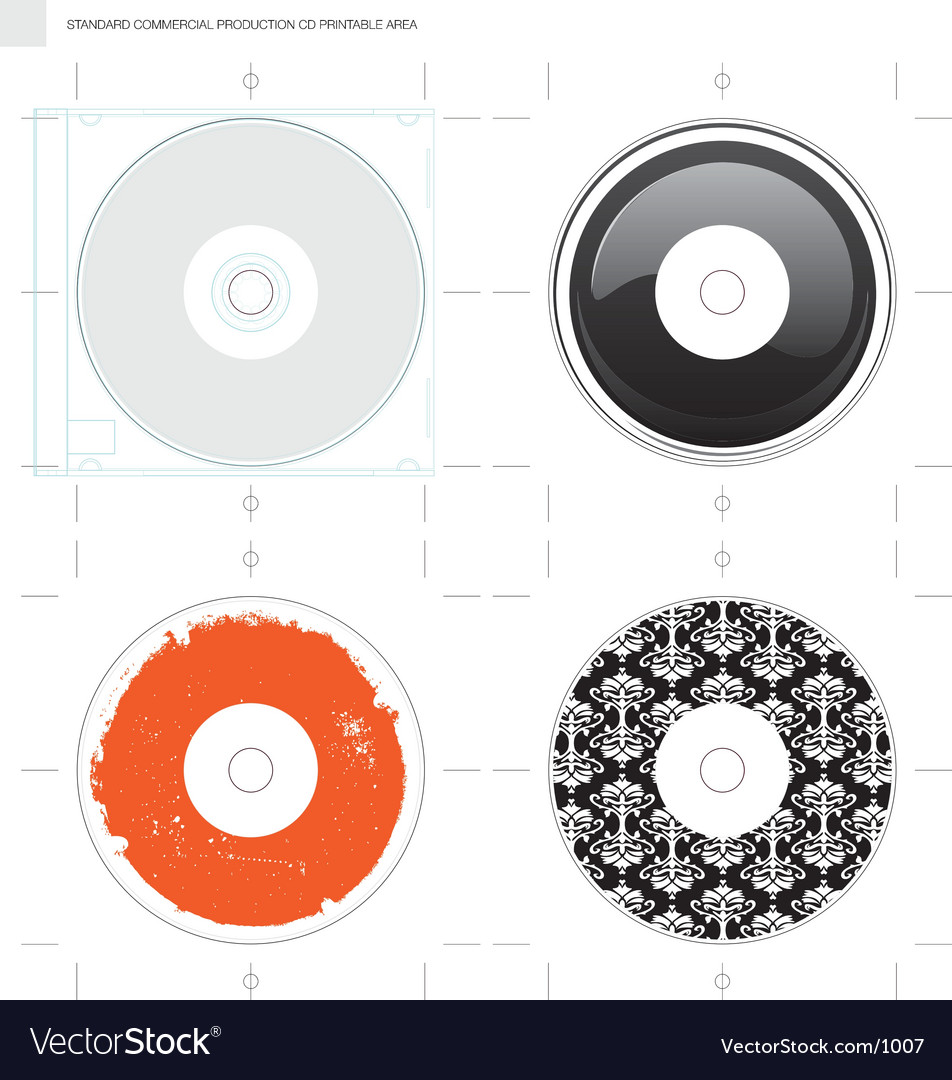 Free cd template and designs vector