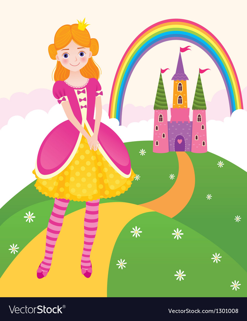 Princess fairy kingdom vector