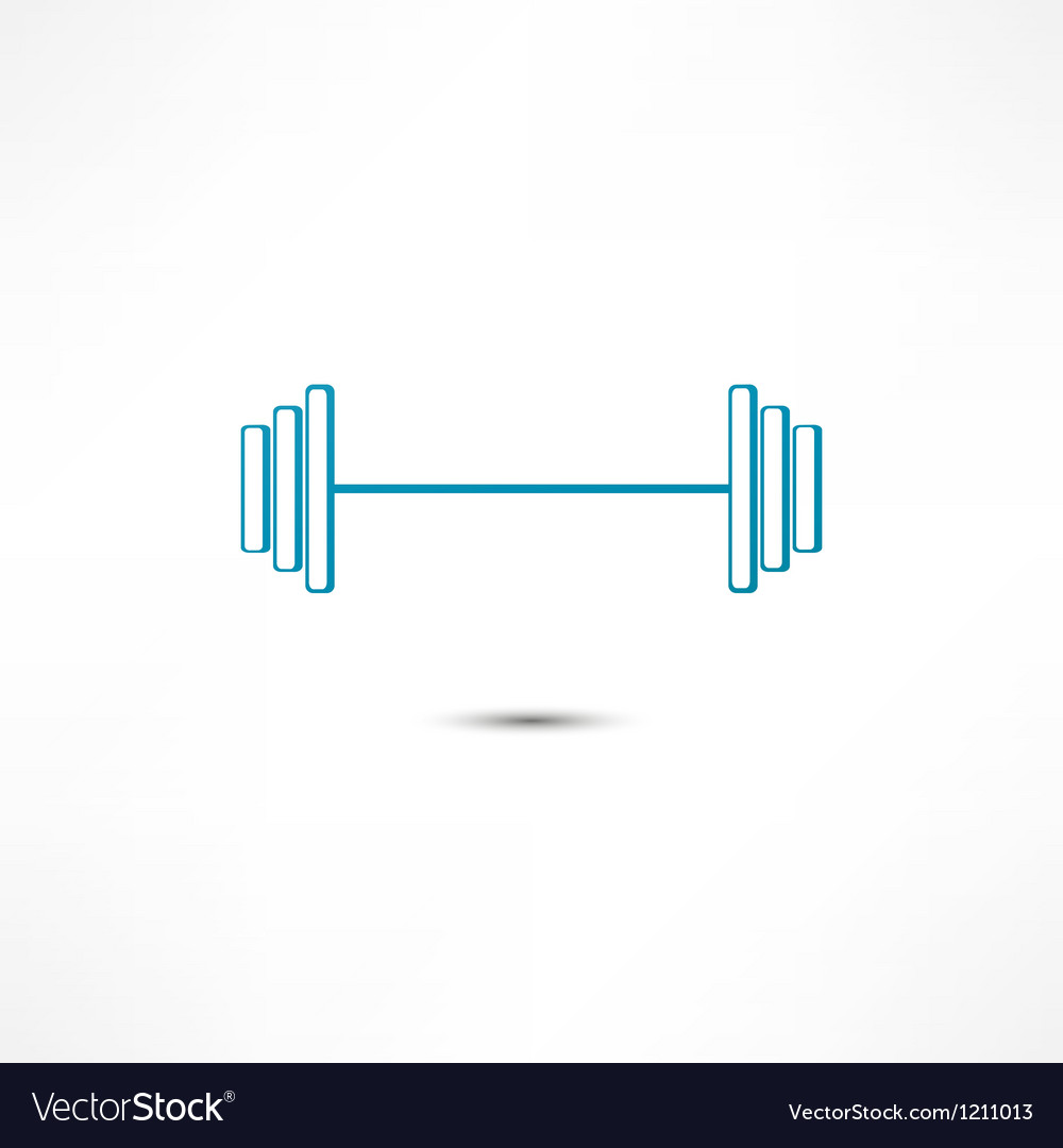Dumbbell Icon Vector Dumbbell icon vector