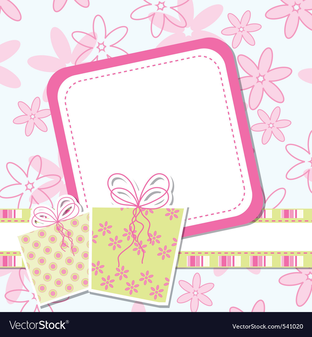 Greeting card design vector by Tolchik - Image #541020 - VectorStock