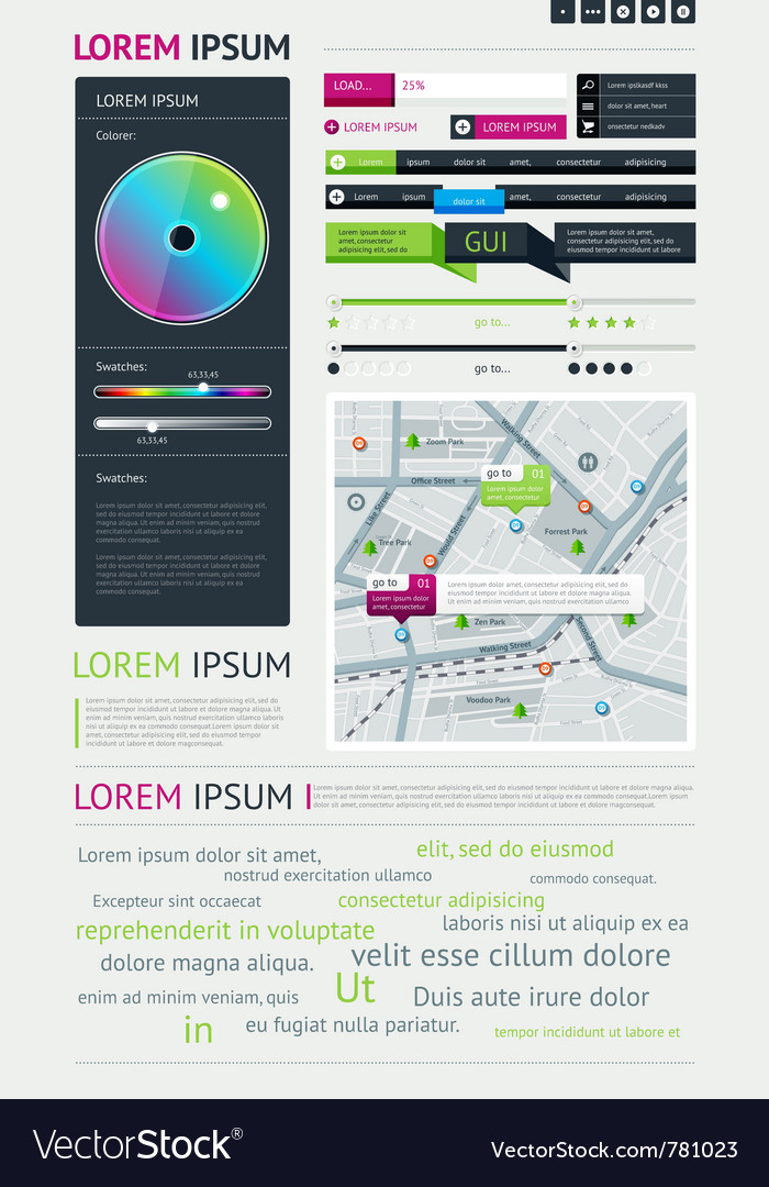 User interface for web vector