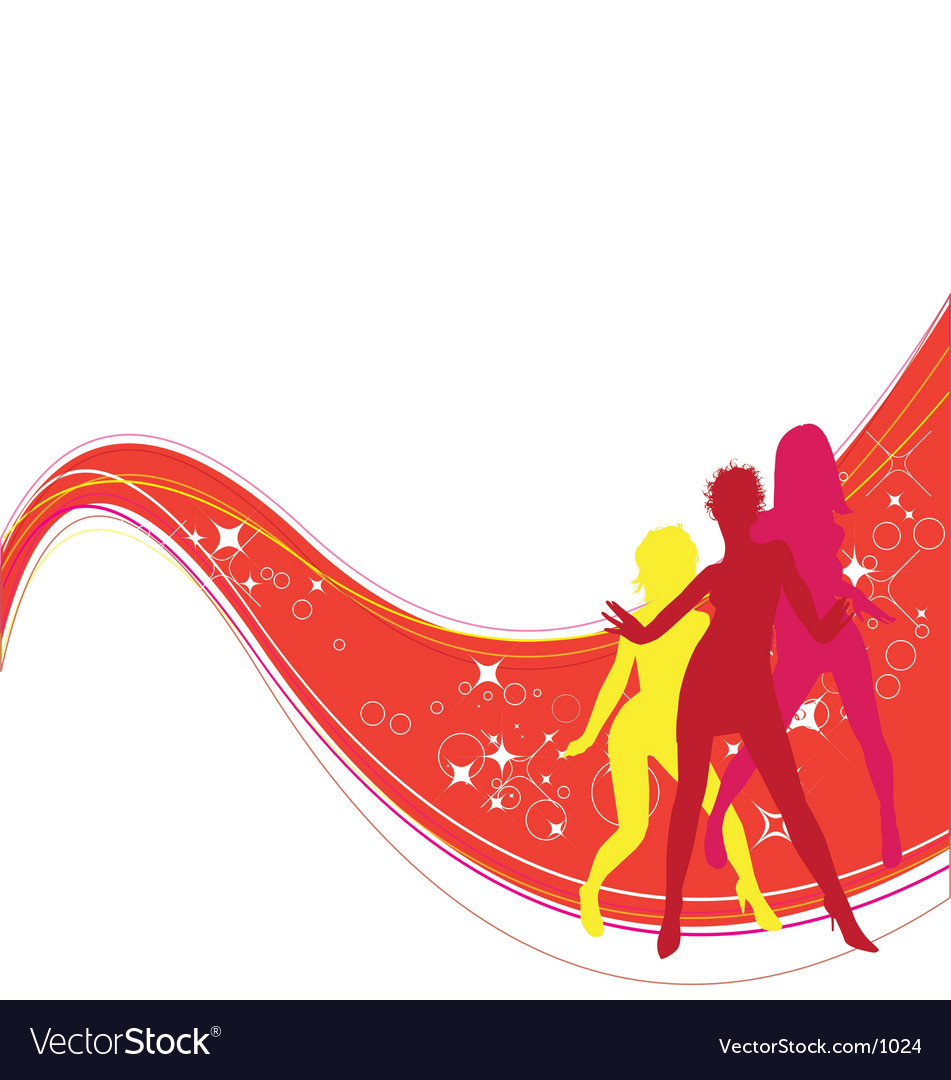 Free dancing girls vector