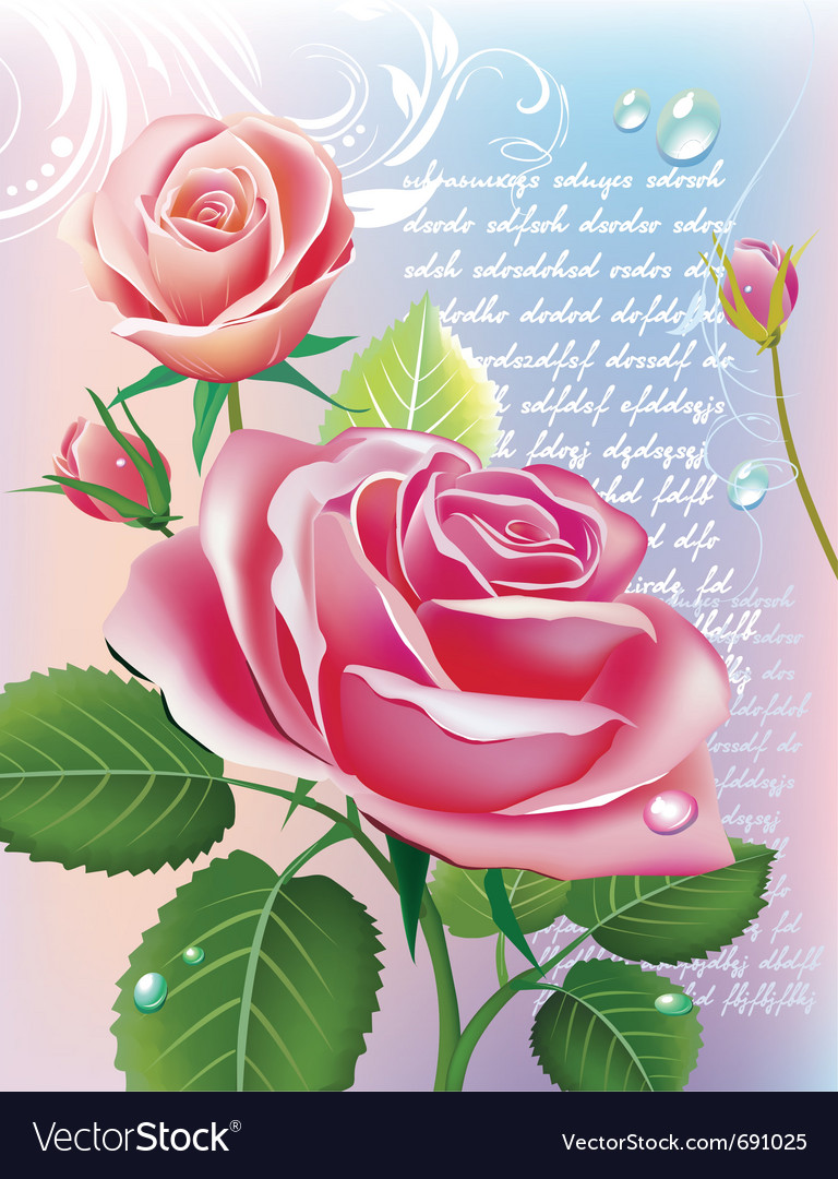 With roses vector