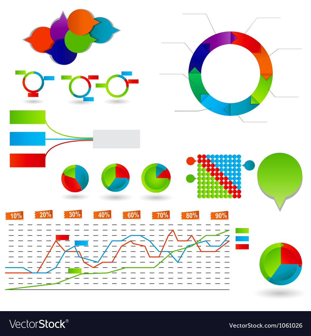 Concept of colorful circular banners vector