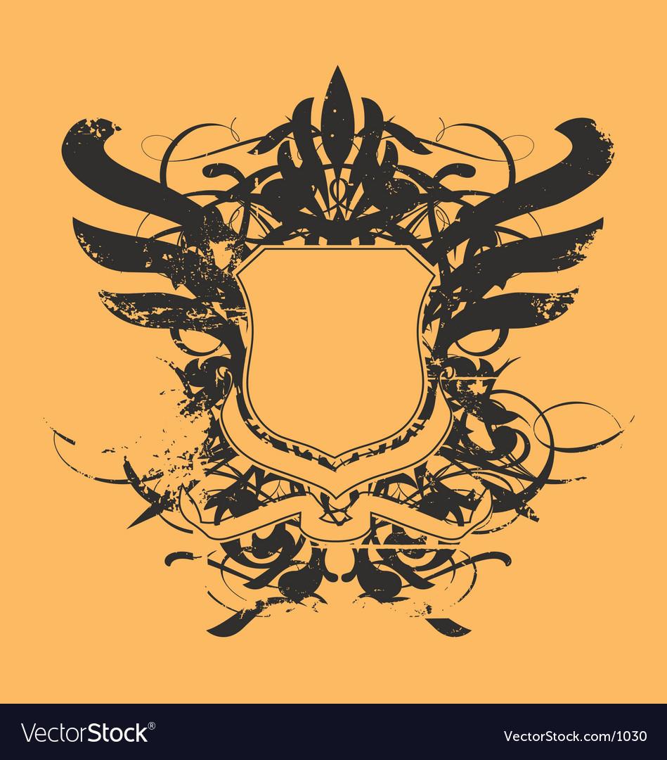 Free heraldic shield vector