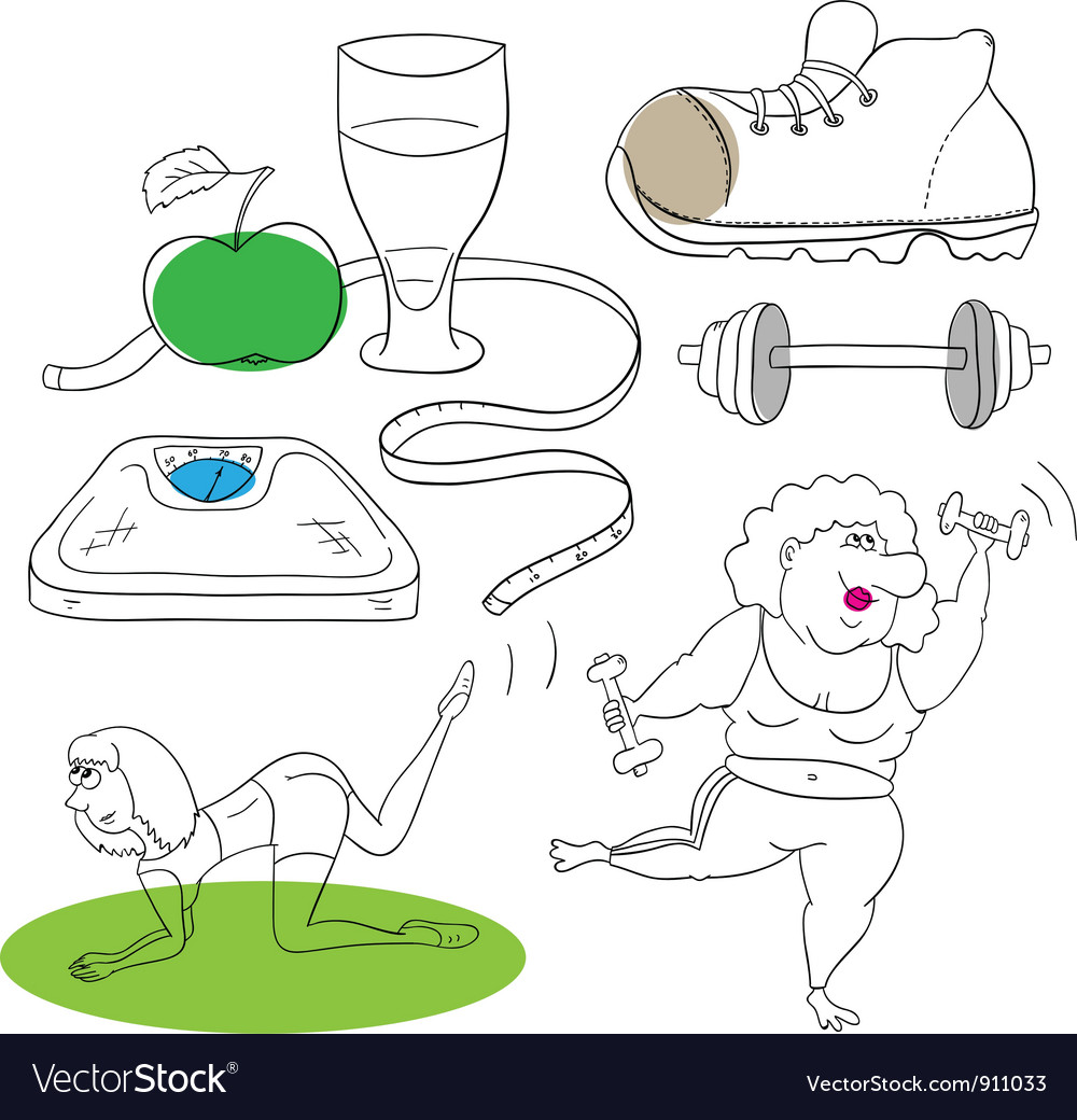 Fitness collection vector