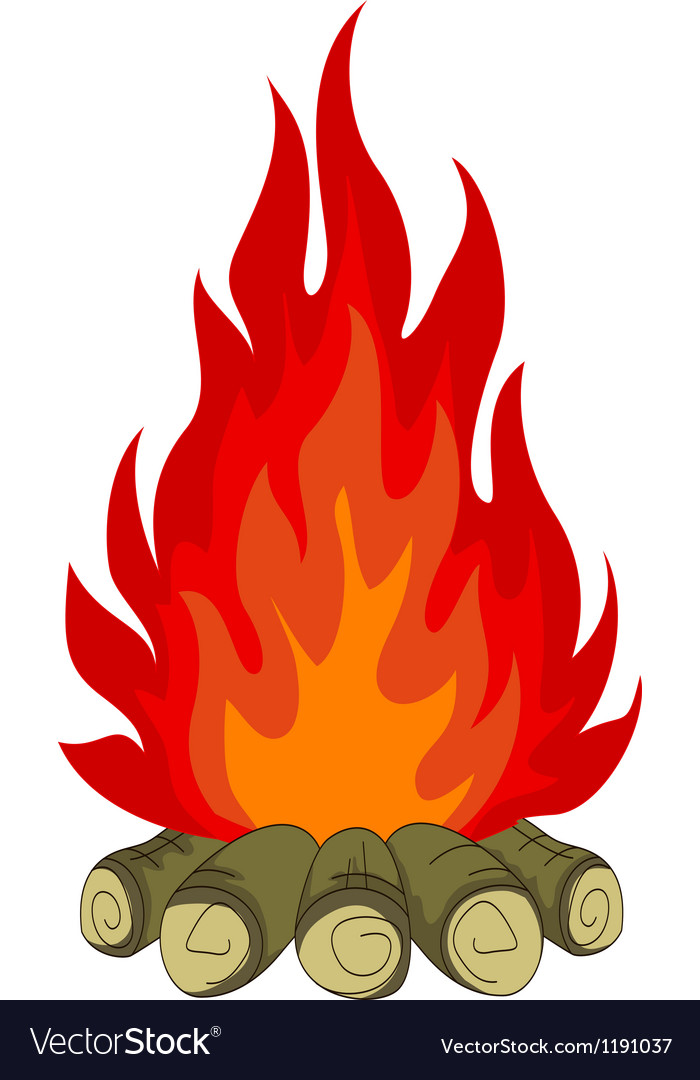 Bonfire isolated for you design vector art - Download You vectors ...