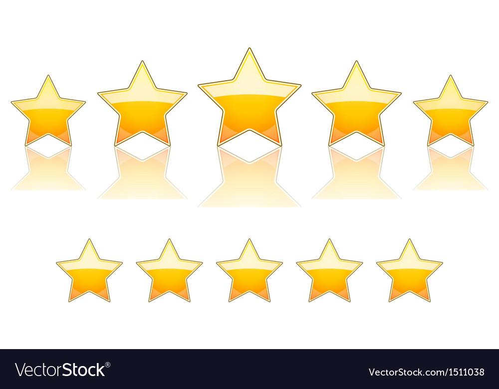 5 gold stars vector