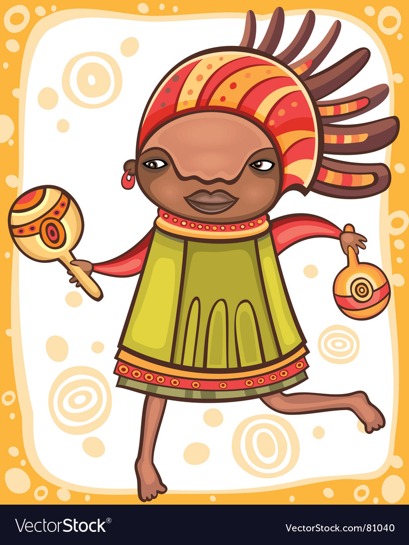 Ethnic girl vector