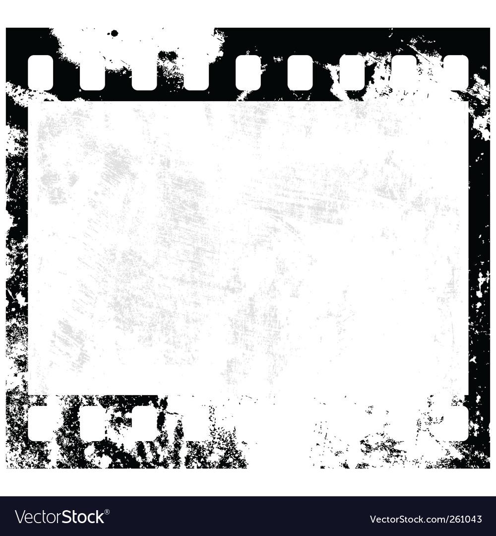 Grunge film frame vector