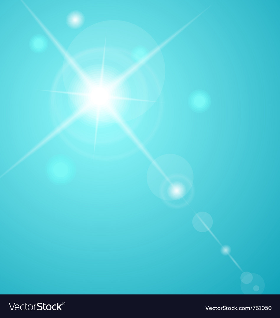 Abstract star with lenses flare - vector