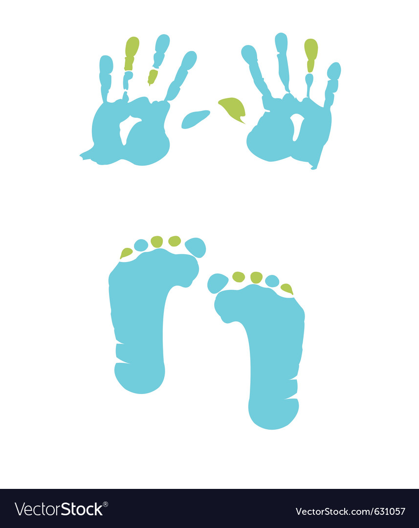 Footprint and handprint vector