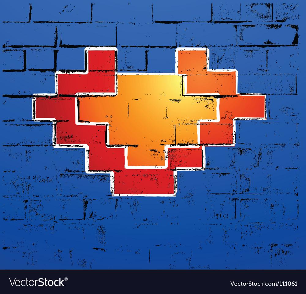 Graffiti heart vector