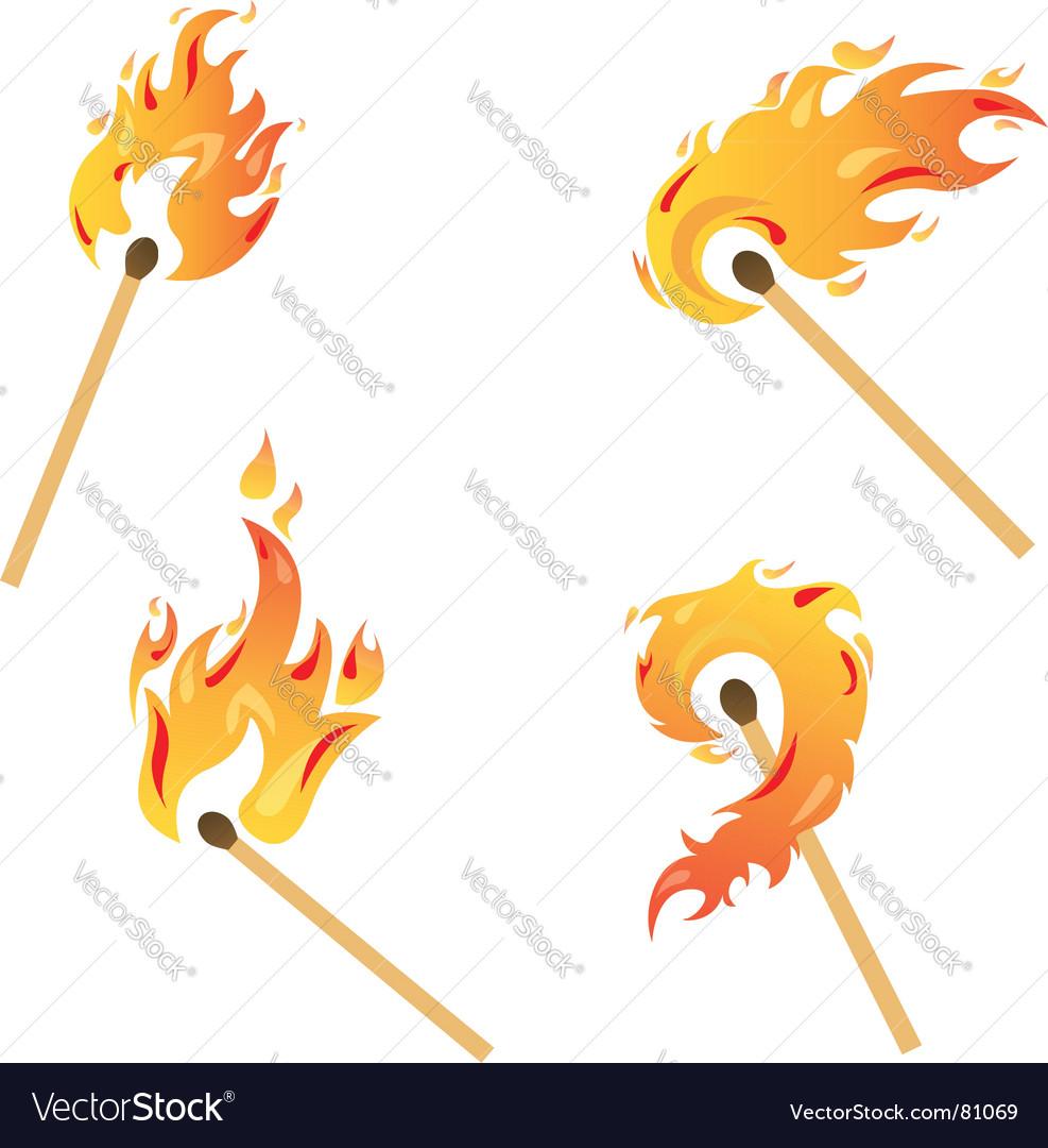 Set of flames vector