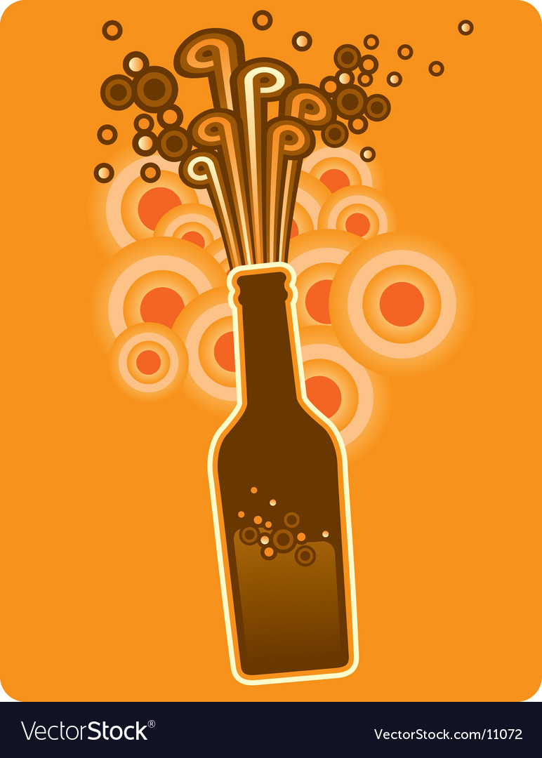 Bottle circles vector