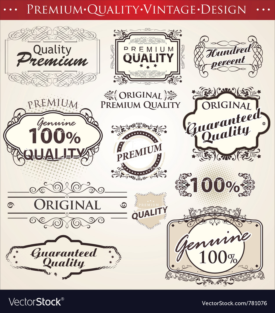 Premium quality vintage design vector