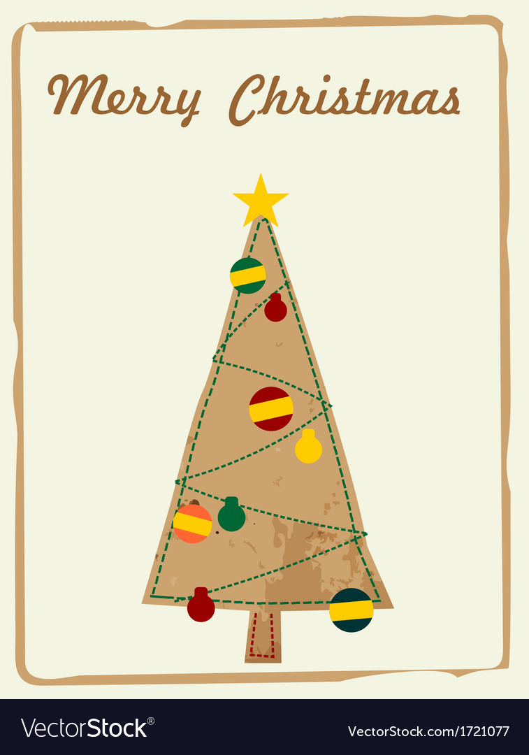 Christmas card, retro, vector