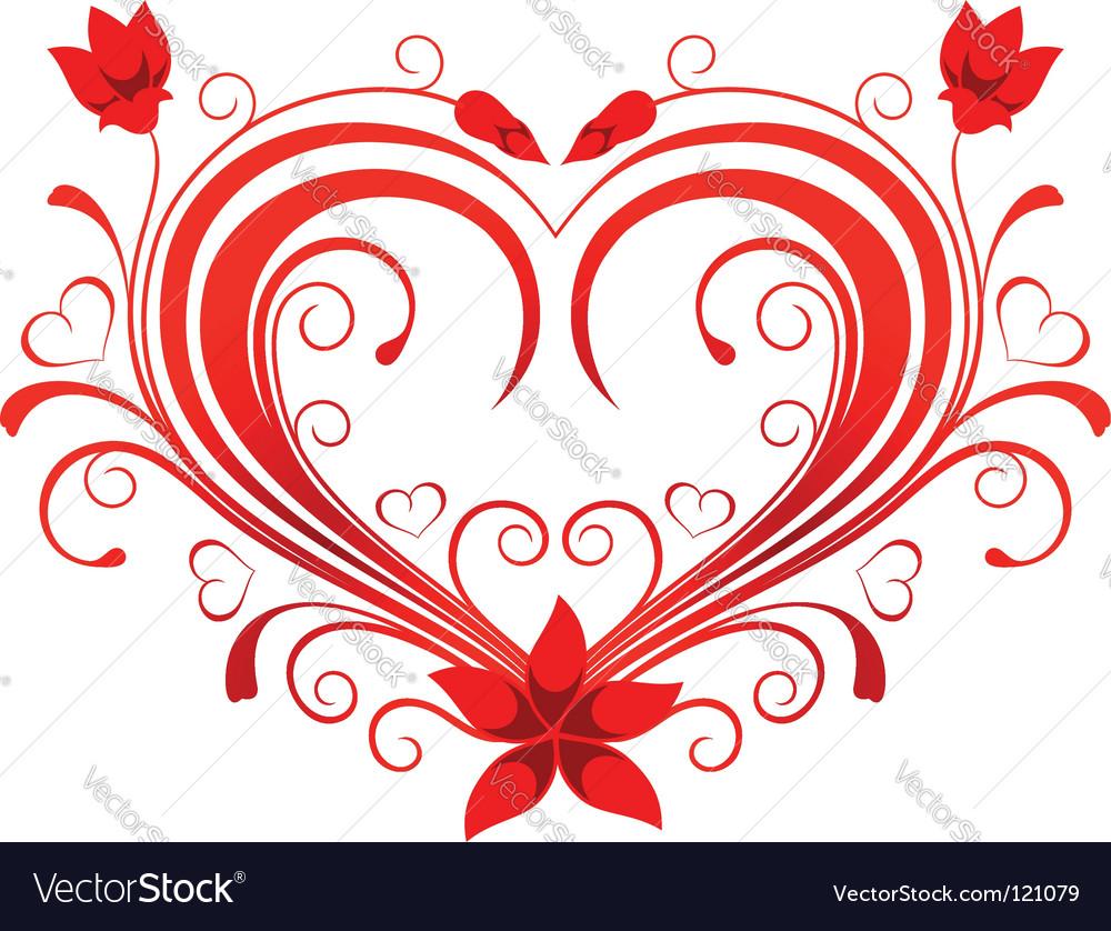 Valentine heart vector art - Download Ornate vectors - 121079
