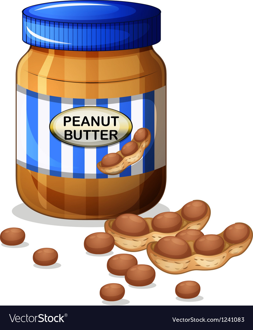 A jar of peanut butter vector