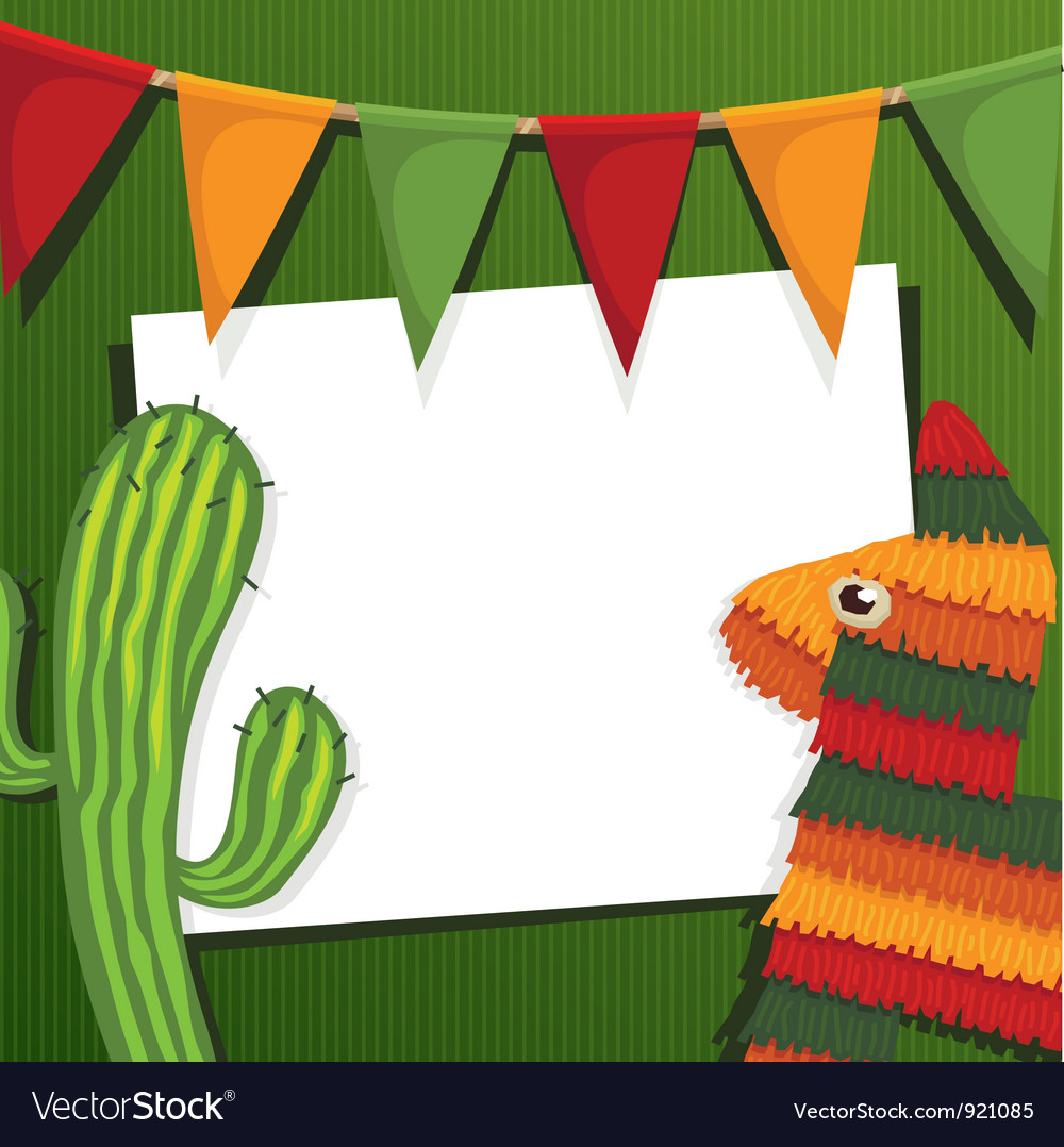 Mexican party vector