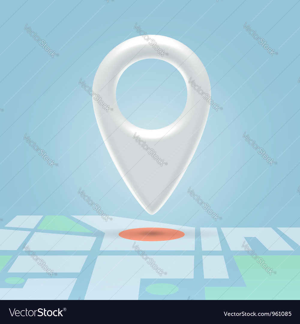 Plastic map pin over spot vector