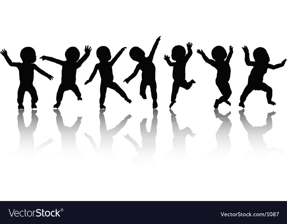Dancing babies vector