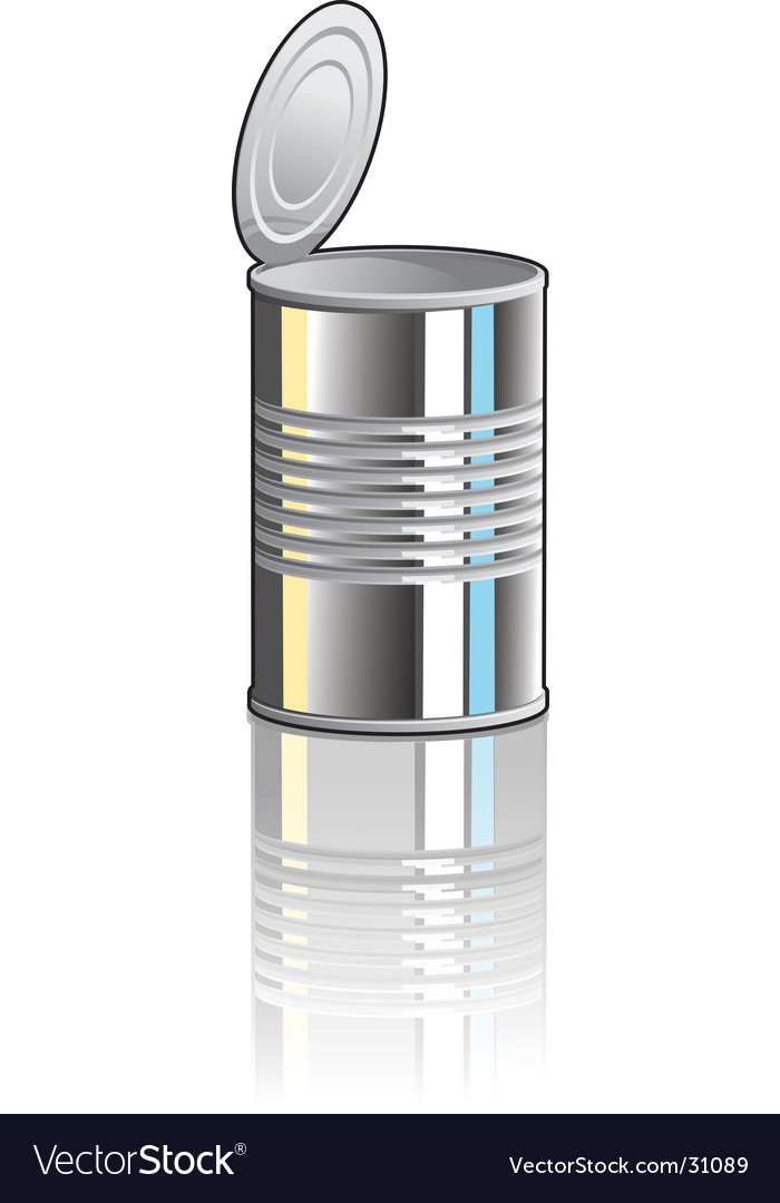 Tin Can Clip Art Tin can vector