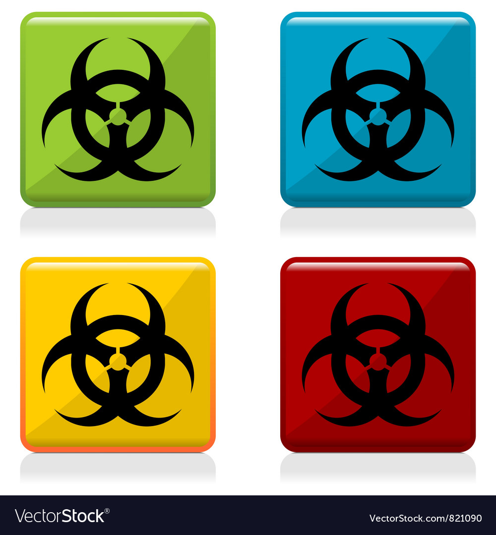 Biohazard sign buttons vector