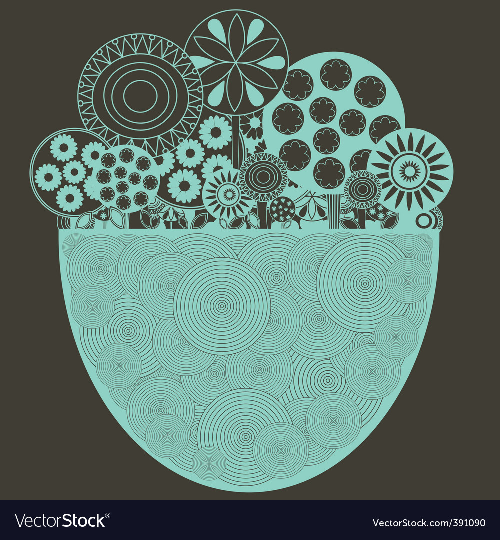 Funky floral background vector