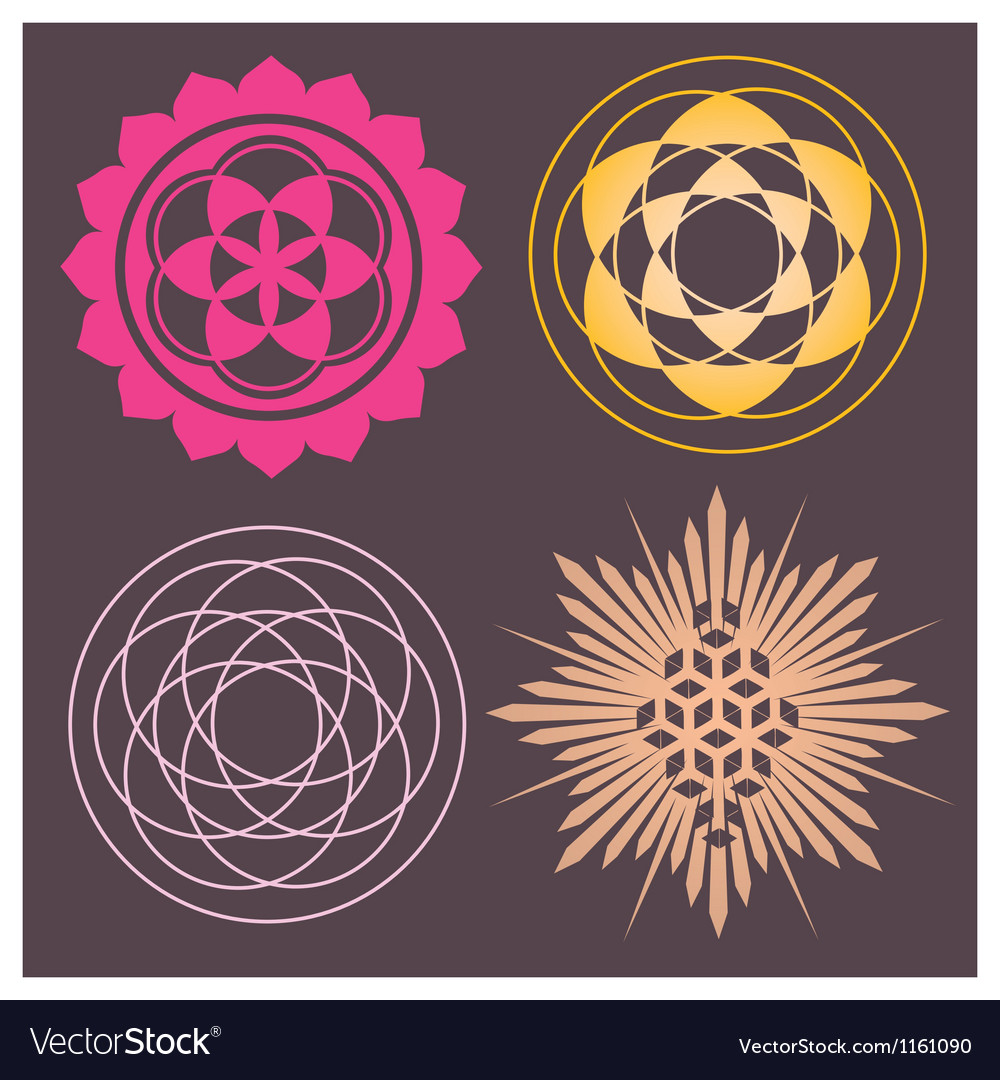 Variety of seed forms print vector