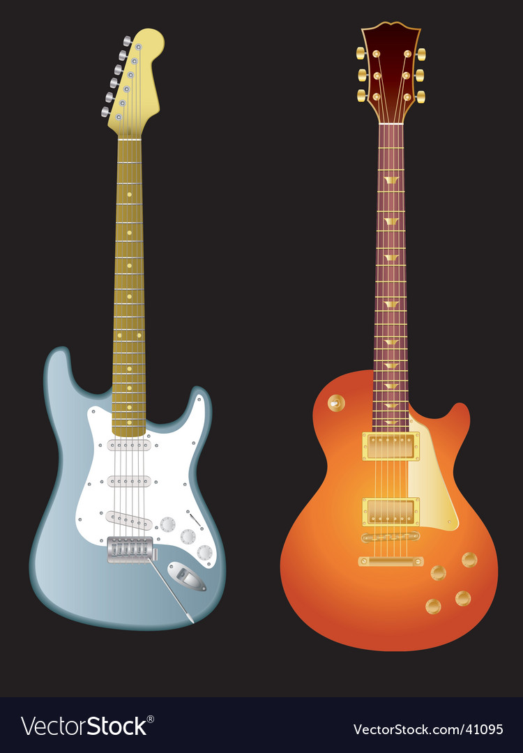 Electric guitars vector