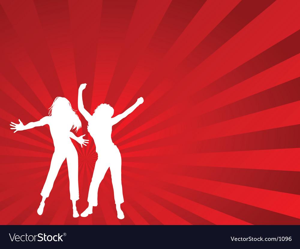 Dancing females vector