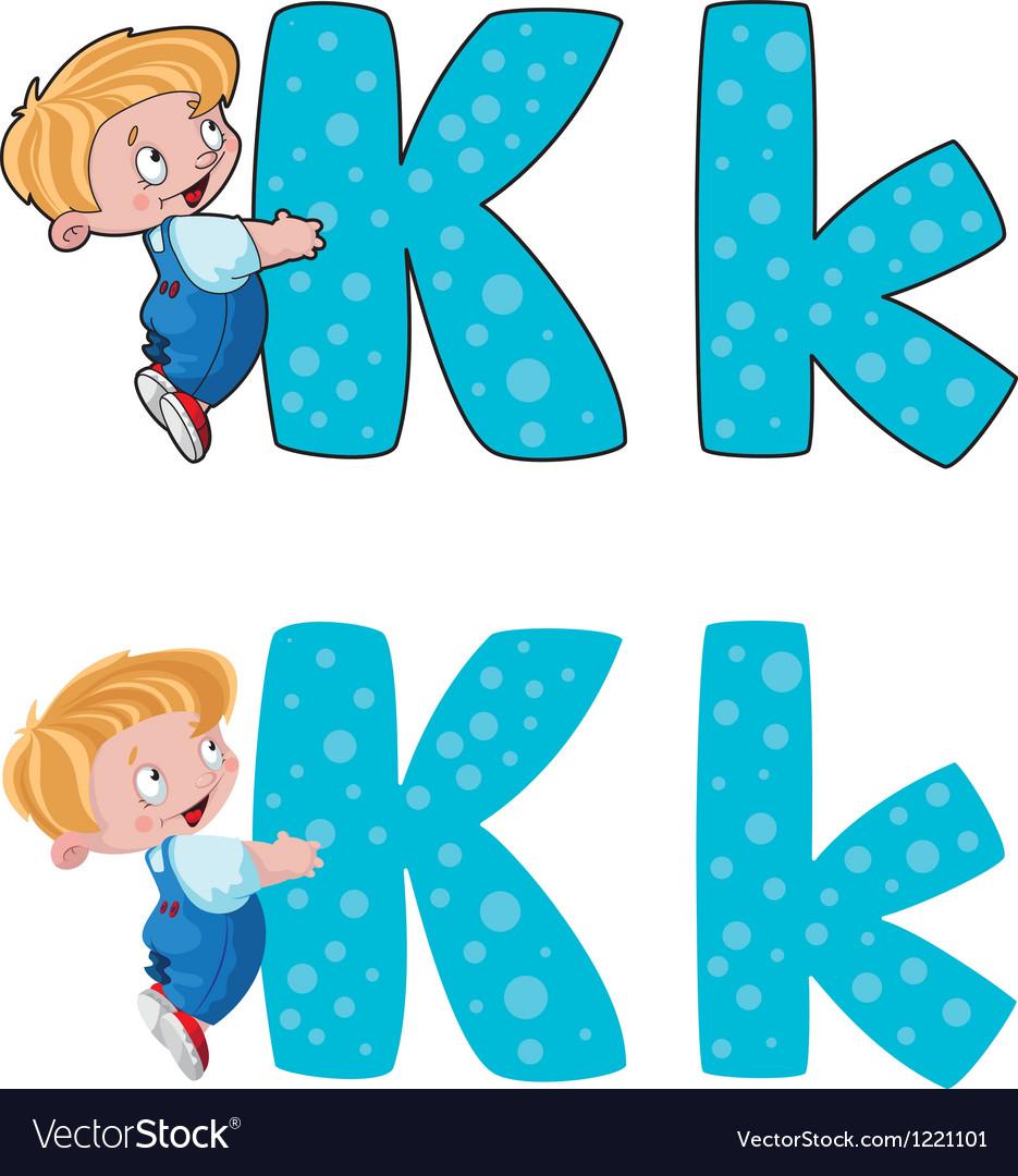 Letter k kid vector