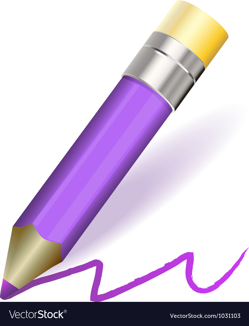 Purple pencil vector