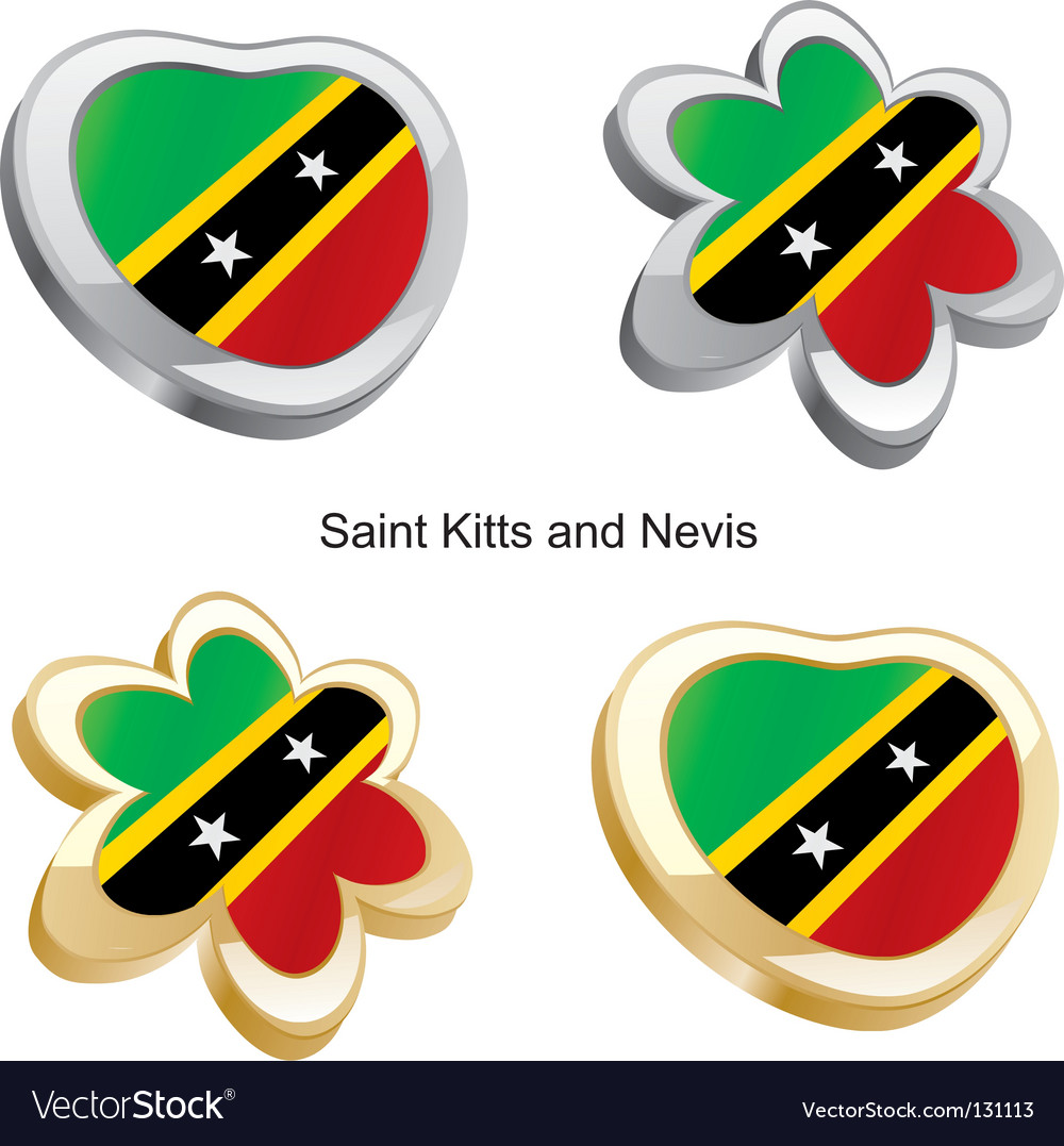 St kitts and nevis vector