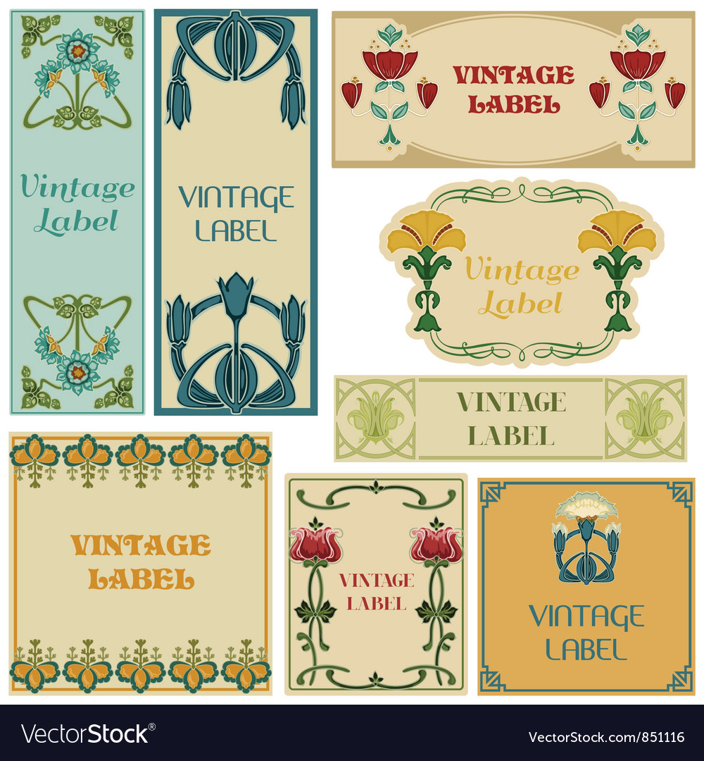 Vintage style labels set vector