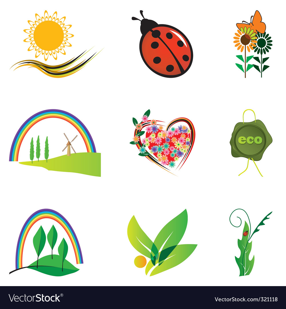 Natural design elements vector