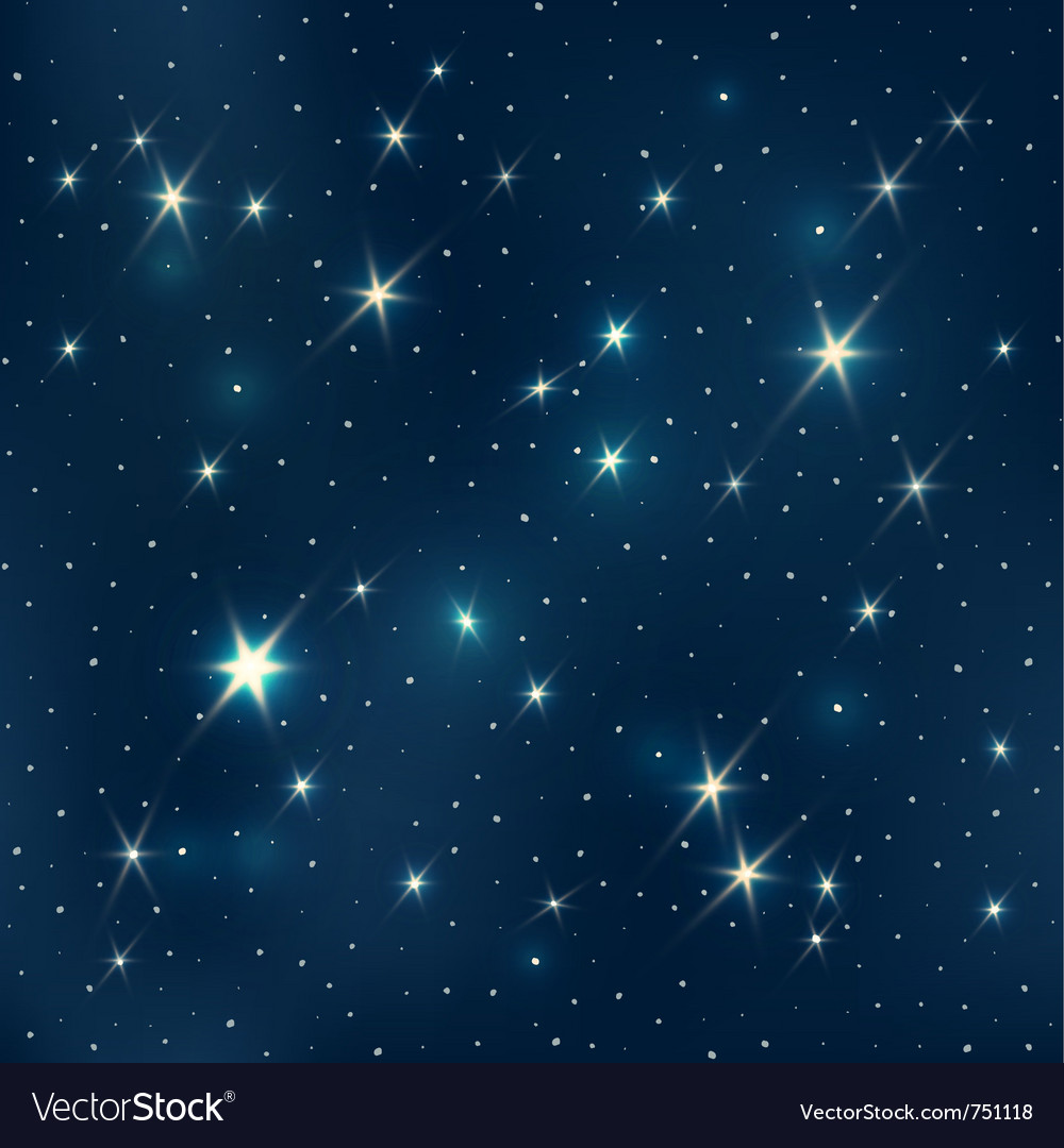 Starry night pattern vector