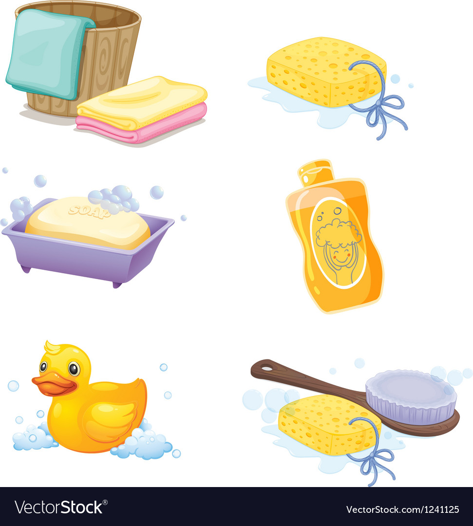 Bathroom accessories vector