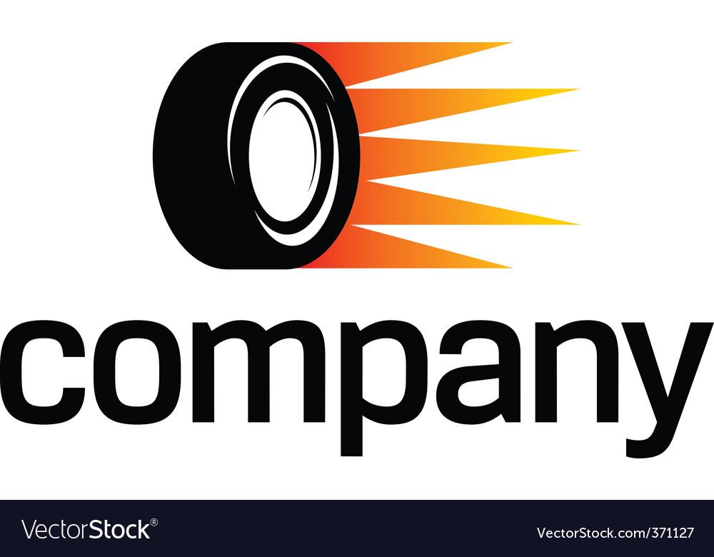 Fast car wheel logo vector