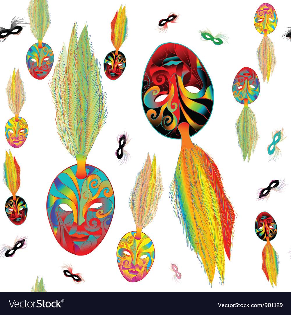 Mardi gras pattern vector