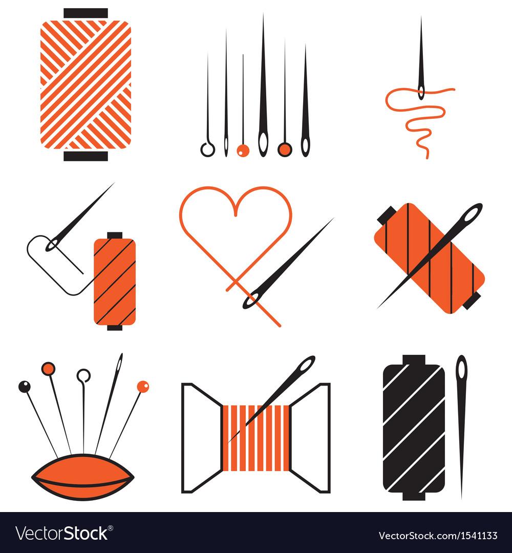 Logo icons needletread vector