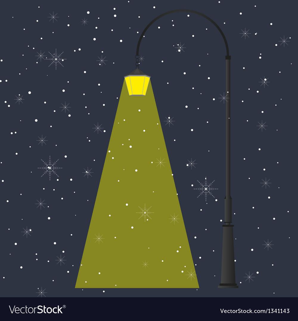 Flashlight and night vector