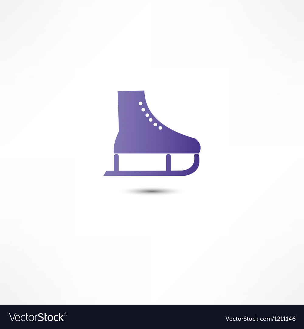 Skating icon vector